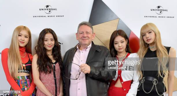 BlackPink and UMG Chairman CEO Sir Lucian Grainge attend Sir Lucian Grainge's 2019 Artist Showcase Presented by Citi at The Row on February 9 2019 in...