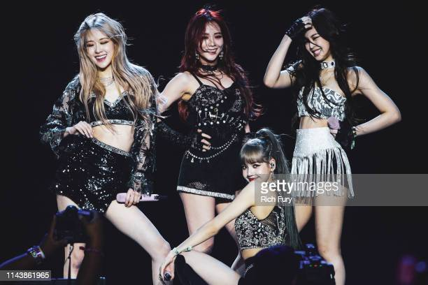 Blackpink perform at Sahara Tent during the 2019 Coachella Valley Music And Arts Festival on April 19 2019 in Indio California