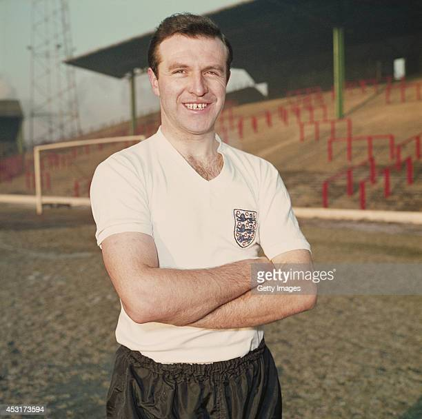 Blackpool and England full back Jimmy Armfield poses in his England shirt at Bloomfield Road Blackpool circa 1962 Armfield played over 500 games for...