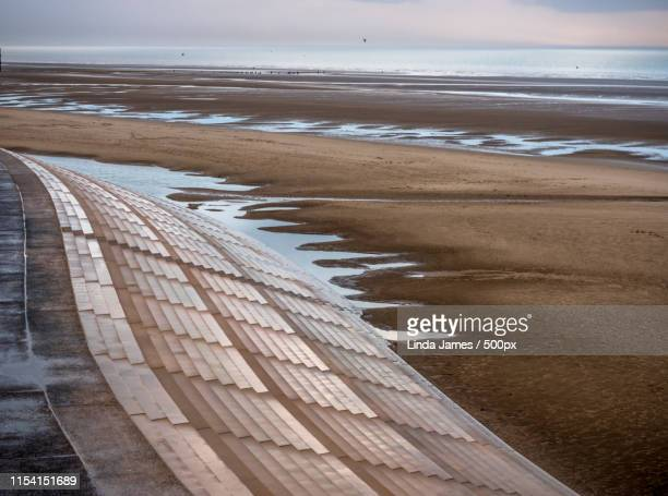 blackpool beach - blackpool beach stock pictures, royalty-free photos & images