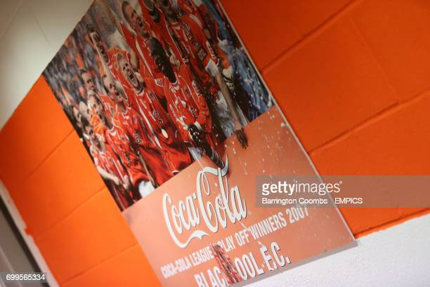 Blackpool boards showcasing the 2007 CocaCola League One PlayOff Final