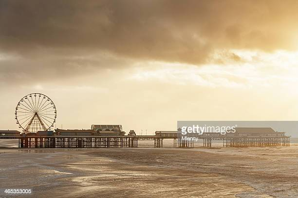 Blackpool Central Pier at Sunset