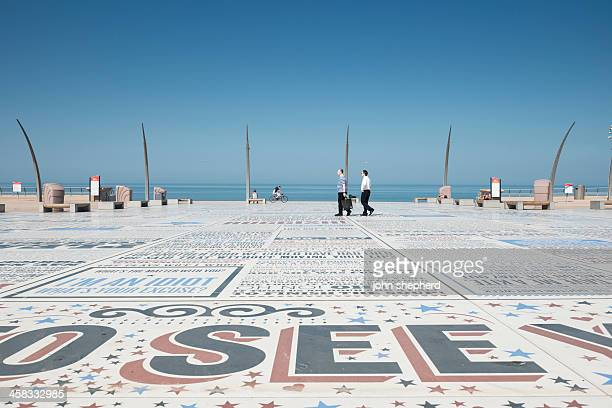 blackpool comedy carpet - blackpool stock pictures, royalty-free photos & images