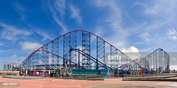 blackpool funfair - blackpool stock photos and pictures