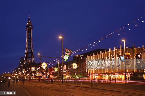 blackpool illuminations, lancashire, england - blackpool tower stock pictures, royalty-free photos & images
