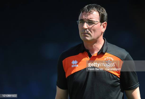 Blackpool manager Gary Bowyer during the Sky Bet League One match between Wycombe Wanderers and Blackpool at Adams Park on August 4 2018 in High...