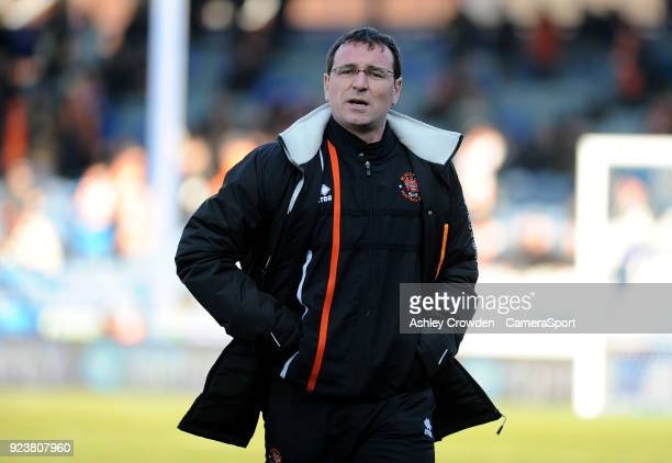 Blackpool manager Gary Bowyer during the Sky Bet League One match between Portsmouth and Blackpool at Fratton Park on February 24 2018 in Portsmouth...