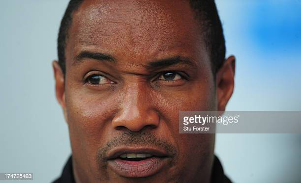 Blackpool manager Paul Ince looks on before the pre season friendly match between Blackpool and Newcastle United at Bloomfield Road on July 28 2013...
