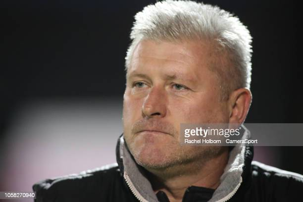 Blackpool Manager Terry Mcphillips during the Sky Bet League One match between Gillingham and Blackpool at Priestfield Stadium on November 6 2018 in...