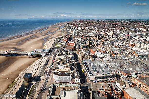 blackpool north beach - blackpool stock photos and pictures