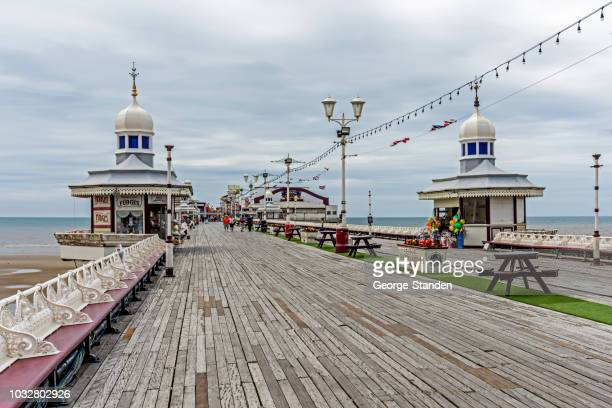 blackpool pier - blackpool stock pictures, royalty-free photos & images