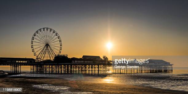 blackpool pier - north stock pictures, royalty-free photos & images