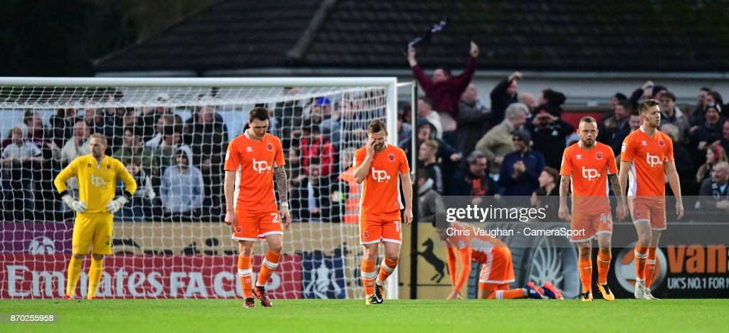 Boreham Wood v Blackpool - The Emirates FA Cup First Round