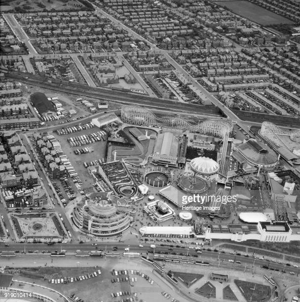 Blackpool Pleasure Beach resort and amusement park Blackpool Lancashire 1959 First founded in 1896 it was used as inspiration for the first...
