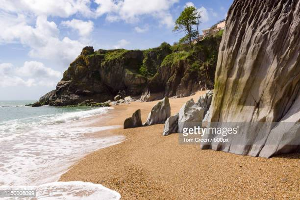 blackpool sands beach - beach stock pictures, royalty-free photos & images
