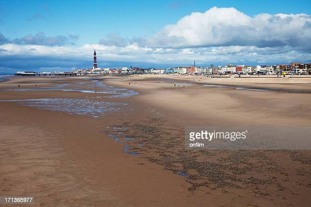 blackpool sands, the classic view - blackpool stock photos and pictures