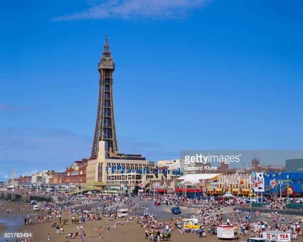 Blackpool Tower and Pleasure Beach