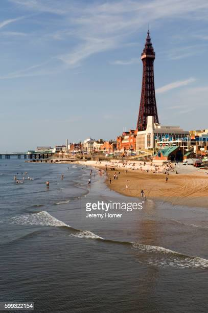 blackpool tower and the lancashire coast - blackpool stock pictures, royalty-free photos & images