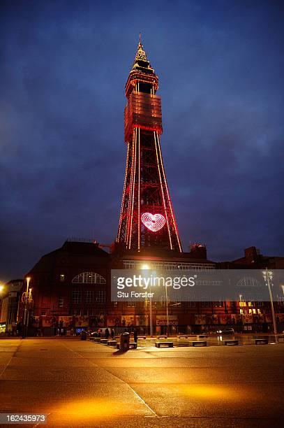 Blackpool Tower on February 23 2013 in Blackpool England