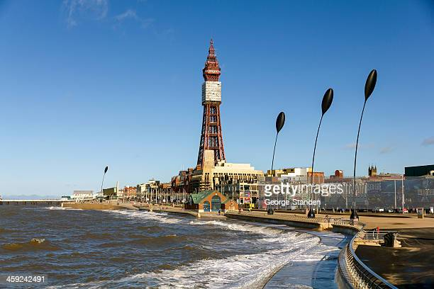 blackpool tower - blackpool tower stock pictures, royalty-free photos & images