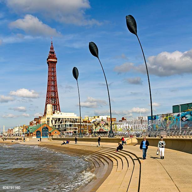 blackpool tower - blackpool stock photos and pictures