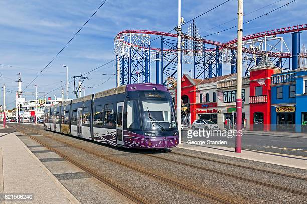 blackpool tram - blackpool stock photos and pictures