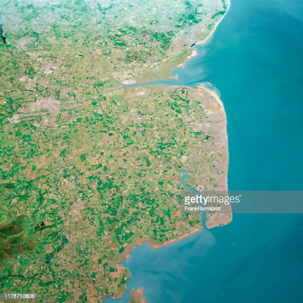 blackpool uk 3d render aerial landscape view from north jun 2018 - frank ramspott stock pictures, royalty-free photos & images