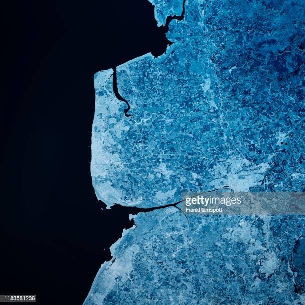 blackpool uk 3d render blue top view jun 2018 - frankramspott stock pictures, royalty-free photos & images