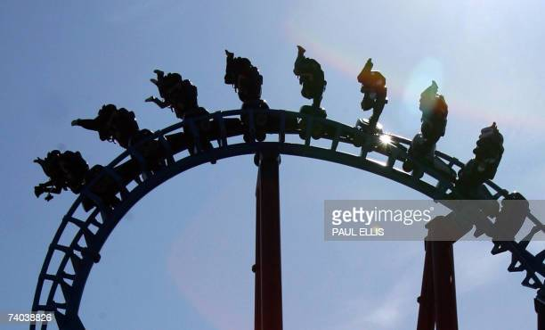 People enjoy the new Infusion rollercoaster opened for the first time on the Pleasure Beach in Blackpool north west England 01 May 2007 The 675 meter...
