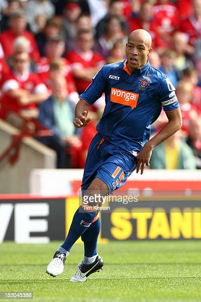 Blackpool's Alex JohnBaptiste during the npower Championship match between Barnsley and Blackpool at Oakwell Stadium on September 15 2012 in Barnsley...