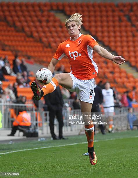 Blackpool's Brad Potts during the Sky Bet League Two match between Blackpool and Doncaster Rovers at Bloomfield Road on October 22, 2016 in...