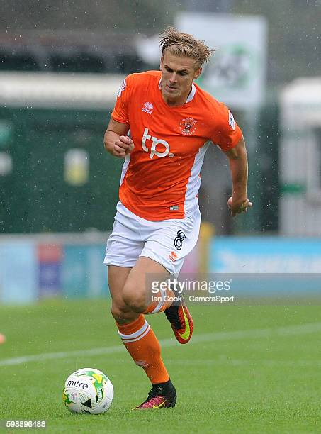 Blackpool's Brad Potts in action during todays match during the Sky Bet League Two match between Yeovil Town and Blackpool at Huish Park on September...