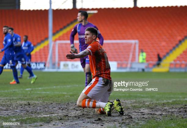 Blackpool's Danny Philliskirk appeals
