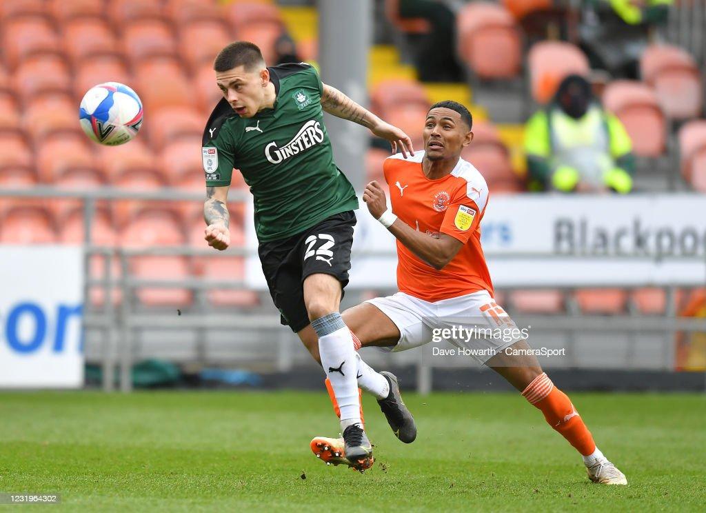 Blackpool v Plymouth Argyle - Sky Bet League One : Nachrichtenfoto