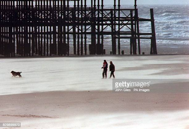 Blackpool's disappearing beach today after reports suggested the world famous resort had lost one metre of its sands recently possibly through sand...
