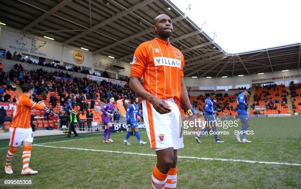 Blackpool's Emmerson Boyce makes his way out on to the pitch prior to kickoff