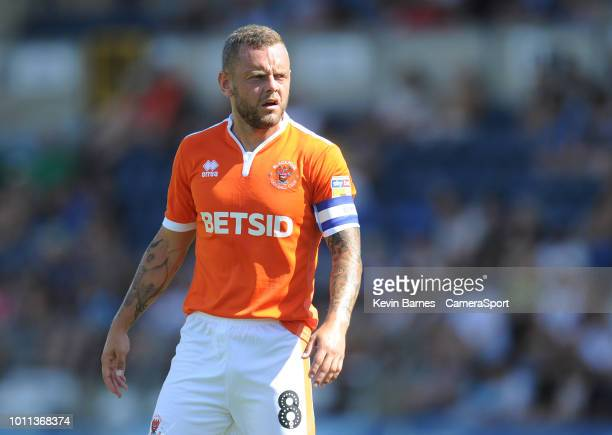 Blackpool's Jay Spearing during the Sky Bet League One match between Wycombe Wanderers and Blackpool at Adams Park on August 4 2018 in High Wycombe...