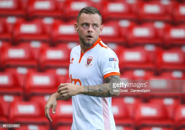 Blackpool's Jay Spearing during the Sky Bet League One match between Walsall and Blackpool at Banks' Stadium on October 14 2017 in Walsall England