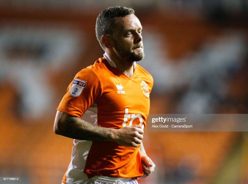 Blackpool's Jay Spearing during the Sky Bet League One match between Blackpool and Gillingham at Bloomfield Road on November 21, 2017 in Blackpool, England.