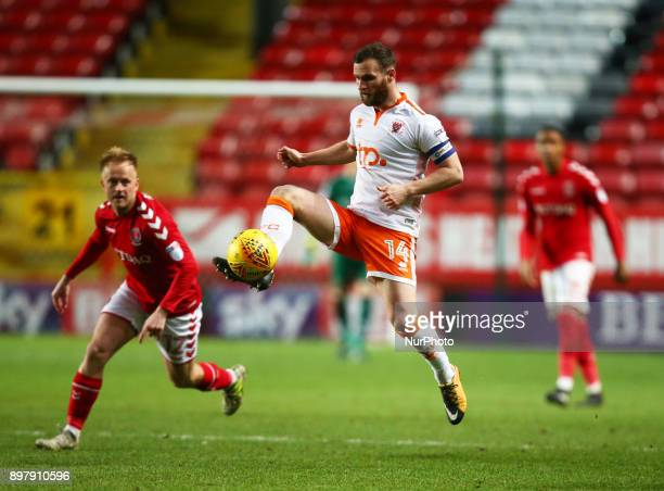 Blackpool's Jimmy Ryan during Sky Bet League One match between Charlton Athletic against Blackpool at The Valley Stadium London on 23 Dec 2017