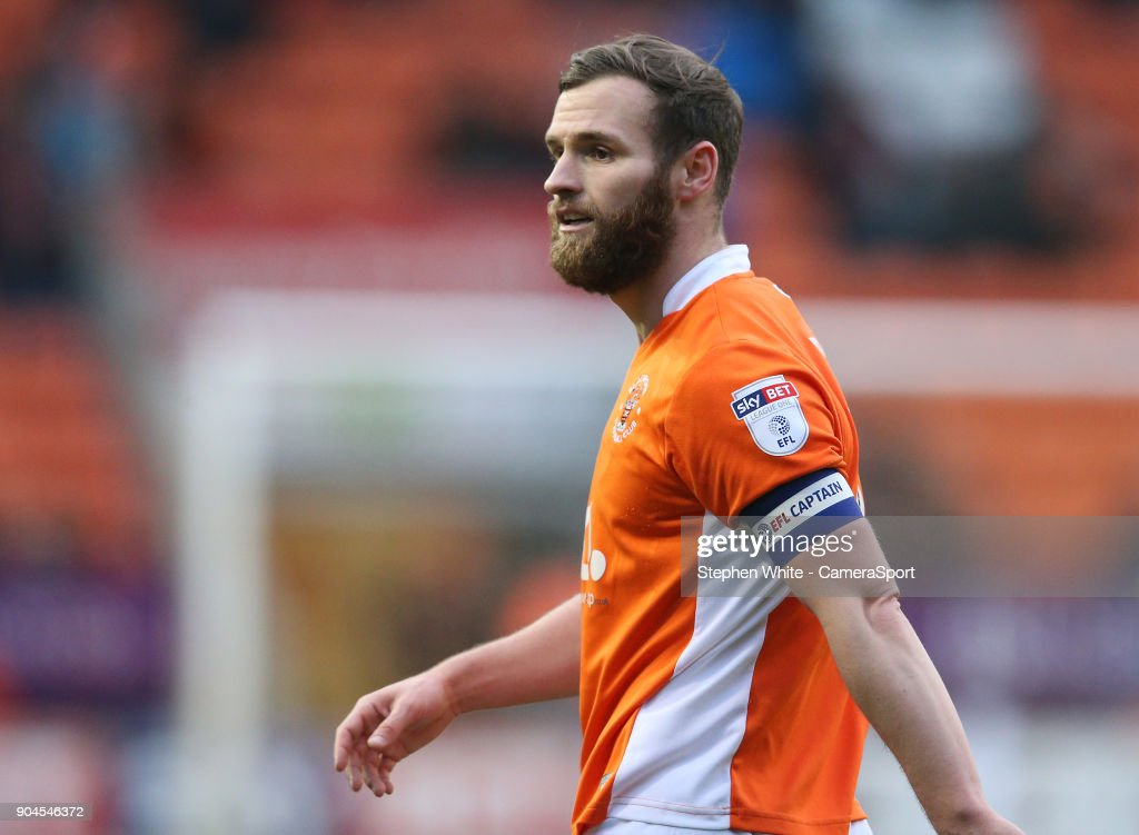 Blackpool's Jimmy Ryan during the Sky Bet League One match between Blackpool and Bristol Rovers at Bloomfield Road on January 13, 2018 in Blackpool, England.