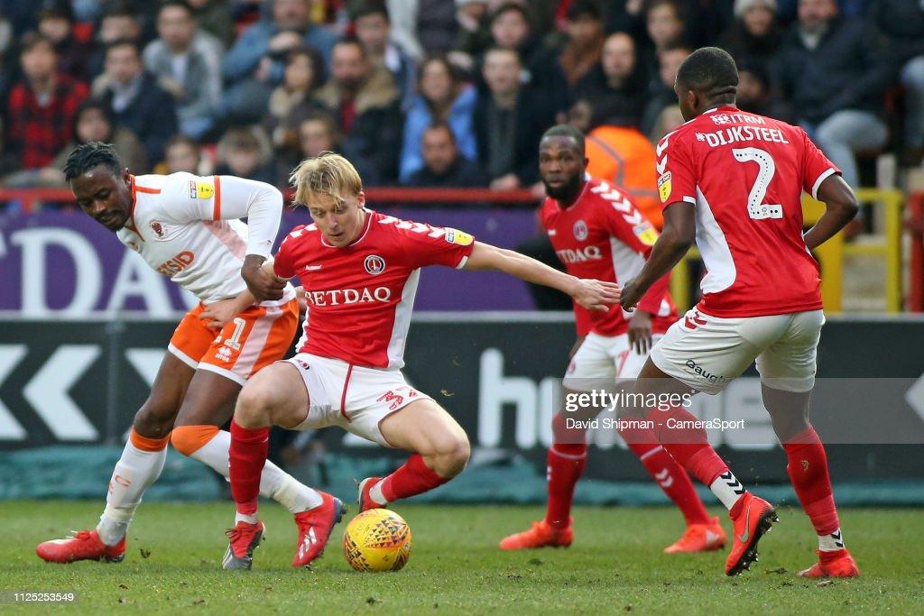 Charlton Athletic v Blackpool - Sky Bet League One : News Photo