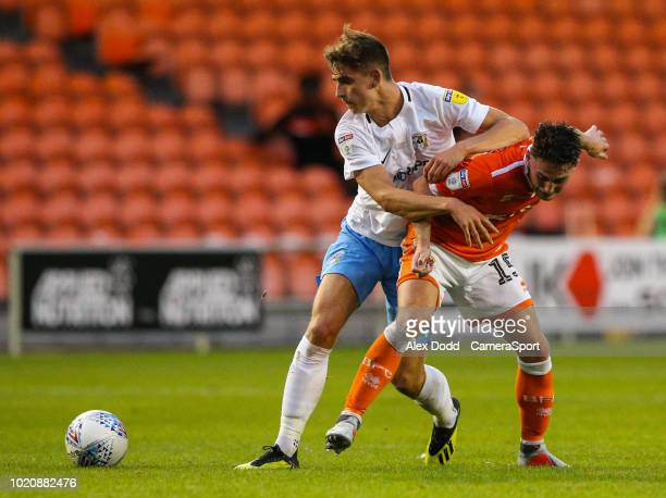 Blackpool's Joe Dodoo scores his side's second goal during the Sky Bet League One match between Blackpool and Coventry City at Bloomfield Road on...