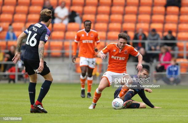 Blackpool's Jordan Thompson during the Sky Bet League One match between Blackpool and Luton Town at Bloomfield Road on September 22 2018 in Blackpool...