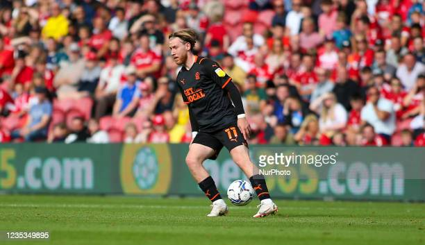 Blackpool's Josh Bowler during the Sky Bet Championship match between Middlesbrough and Blackpool at the Riverside Stadium, Middlesbrough on Saturday...