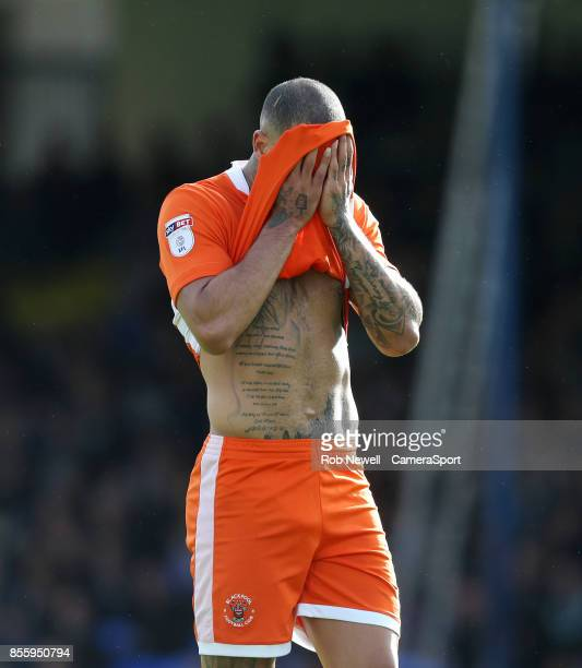 Blackpool's Kyle Vassell during the Sky Bet League One match between Southend United and Blackpool at Roots Hall on September 30 2017 in Southend...