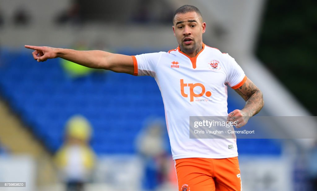Blackpool's Kyle Vassell during the Sky Bet League One match between Peterborough United and Blackpool at ABAX Stadium on November 18, 2017 in Peterborough, England.