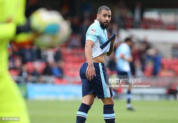 Blackpool's Kyle Vassell during the Sky Bet League Two match between Crewe Alexandra and Blackpool at The Alexandra Stadium on September 24 2016 in...