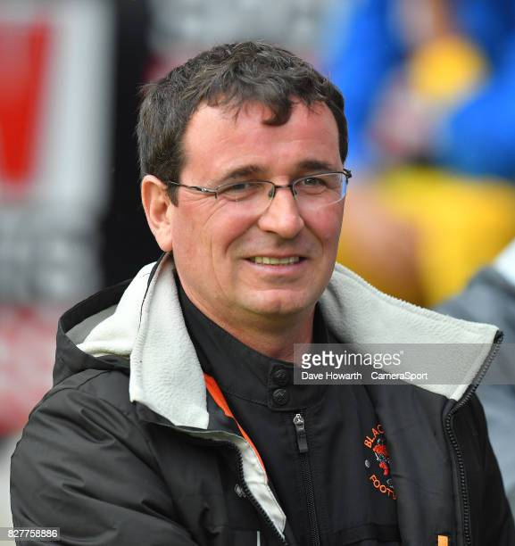 Blackpool's Manager Gary Bowyer during the Carabao Cup First Round match between Wigan Athletic and Blackpool at DW Stadium on August 8 2017 in Wigan...