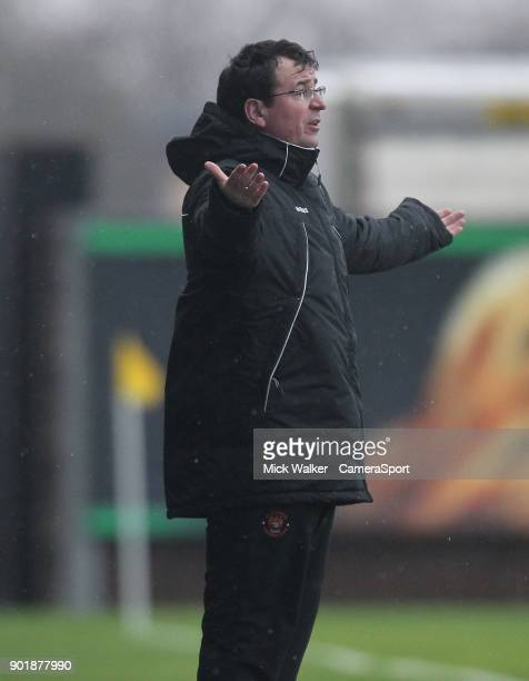 Blackpool's Manager Gary Bowyer during the Sky Bet League One match between Oxford United and Blackpool at Kassam Stadium on January 6 2018 in Oxford...